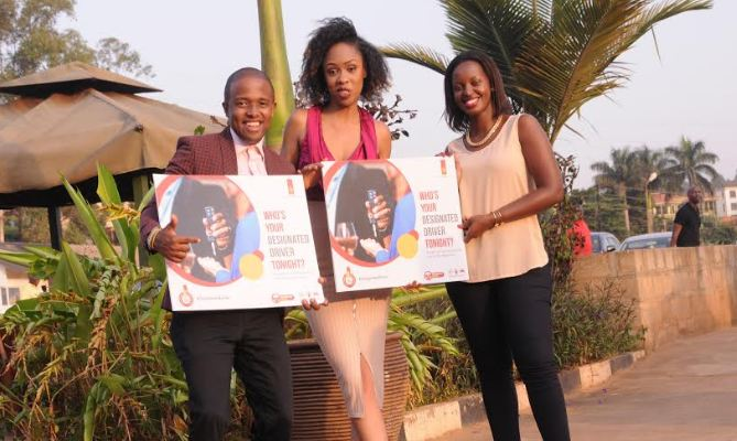 "Flavia Tumusiime, Miss Deedan Muyira and Charles Denzel have been unveiled as the new ambassadors for the UBL ""Designated Driver"" campaign."