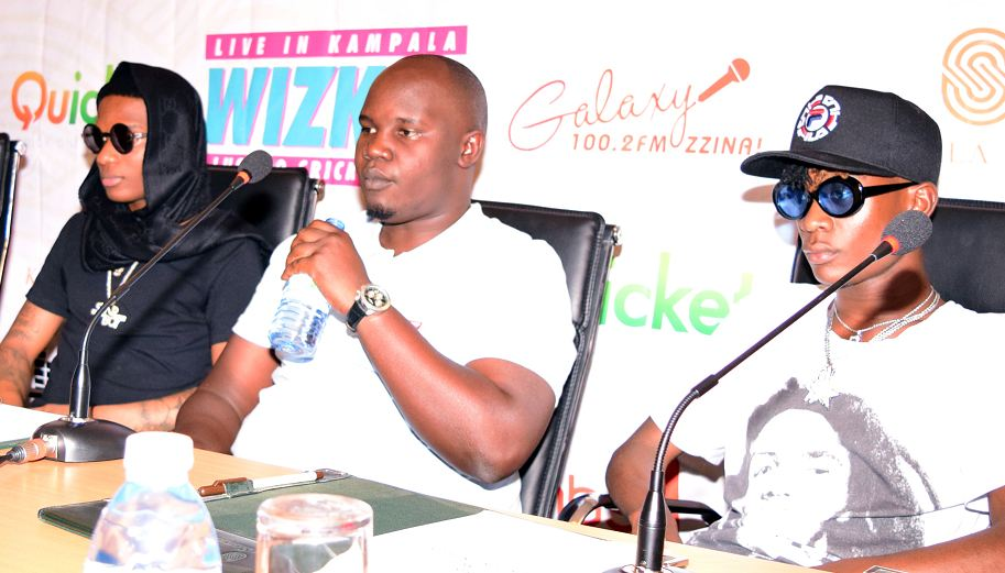 L-R: Wizkid, Face TV boss Peejay Boaz and Fic Fameica