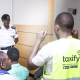 Taxify together with Uganda Police carrying out a safety training for boda boda riders