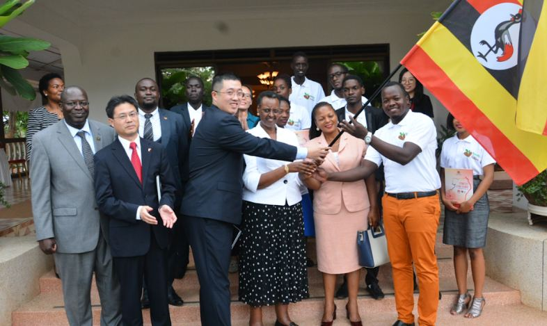 H.E Janet Museveni flags off the Huawei Seeds for the Future program finalists.