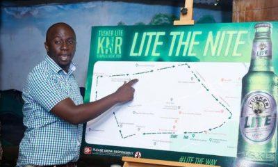 Kampala Night Run route