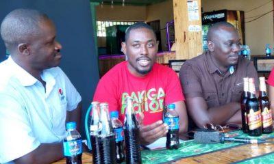 Owen Bigombe, the Team Leader Bakiga Nation, addressing media.
