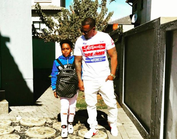Cameroon Gitawo with his son Chris Junior