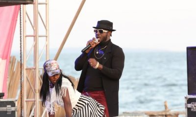 Bebe Cool performs at DJ Nimrod's All White Beach Party.