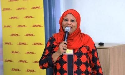 DHL Express Uganda Country Manager Fatma Abubakar addresses partners and guest at the e-commerce workshop.
