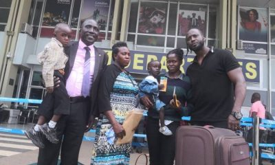Bebe Cool sees off heart patients to India for surgery.