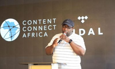 Jason Kpana the TIDAL SVP Artist & Label Relations addresses the gathering at the MTN TIDAL Artist Collaboration Conference.