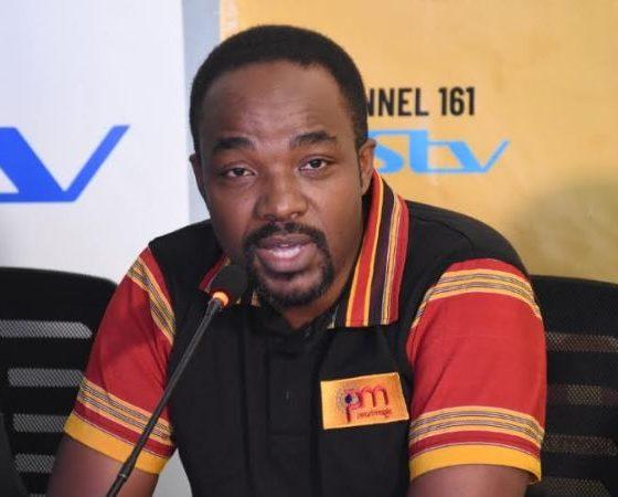 Albert Nga, Marketing Manager MultiChoice Uganda addresses media during the Pearl Magic TV launch on Monday.