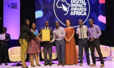 The UBA Uganda team receiving the Social media award for the Leo- Chat banking Innovation
