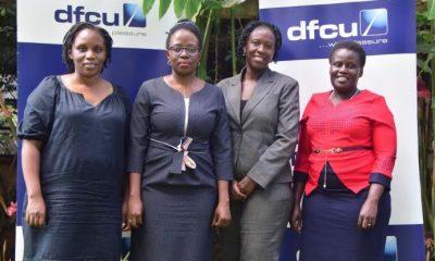 L-R: The four members of dfcu's Women in Business Advisory council; Patricia Karugaba Kyazze, Belinda Namutebi, Grace Makoko and Dr. Gudula Naiga Basaza