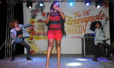 Irene Ntale performs at the UG Pineapple comedy tour in Mbarara