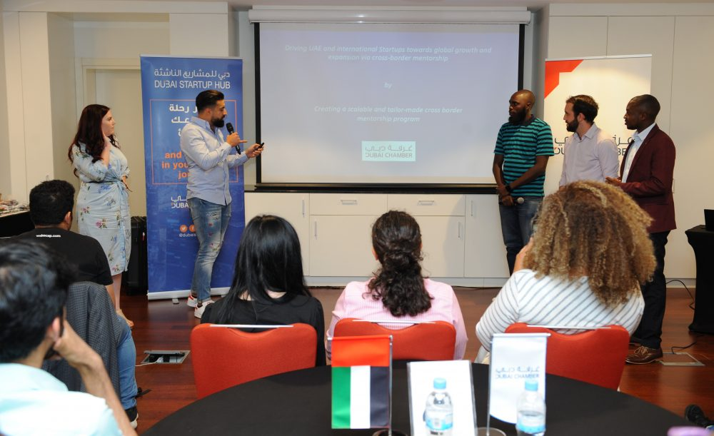 Participants presenting their ideas during the Chamberthon