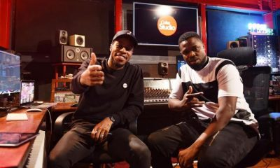 Daddy Andre (right) in studio