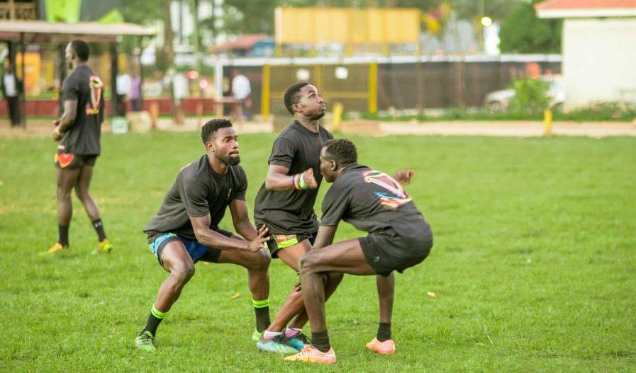 Uganda Rugby Cranes 7s team training