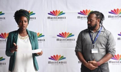Ms. Joan K. Semanda, the Public Relations and Communications Manager and Mr. Colin Asiimwe, the Head of Marketing at MultiChoice Uganda.