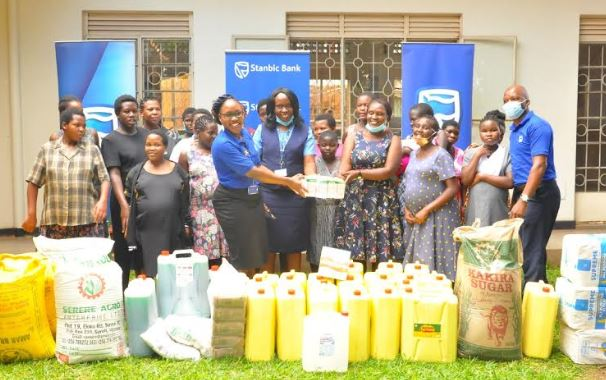 Stanbic Bank contributed Ugx 140 million used for purchasing food items for the communities in which they are operating in.