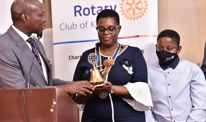 Jackie Namara Rukare has been installed as the new President of the Rotary Club of Kitante.