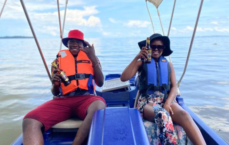 "Final winners in the ""My Uganda My Nile"" campaign enjoy a boat ride"